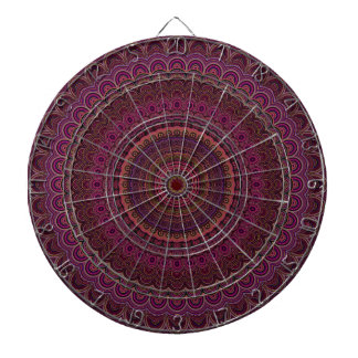 Dark purple mandala dartboard