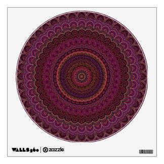 Dark purple mandala wall sticker