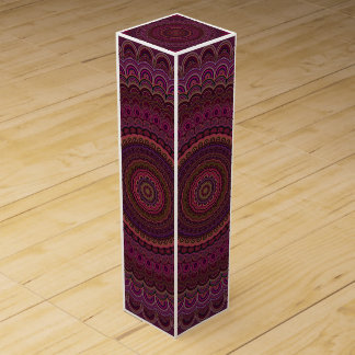 Dark purple mandala wine box