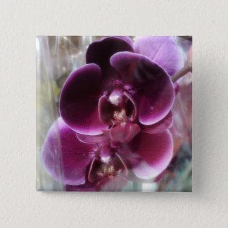 Dark Purple Moth Orchids 2 Inch Square Button