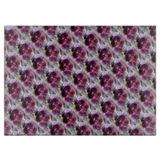 Dark Purple Moth Orchids Cutting Board