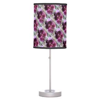Dark Purple Moth Orchids Desk Lamps