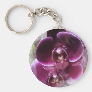 Dark Purple Moth Orchids Keychain
