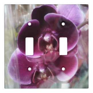 Dark Purple Moth Orchids Light Switch Cover