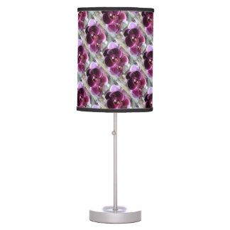 Dark Purple Moth Orchids Table Lamp