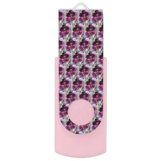 Dark Purple Moth Orchids USB Flash Drive
