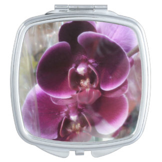 Dark Purple Moth Orchids Vanity Mirrors