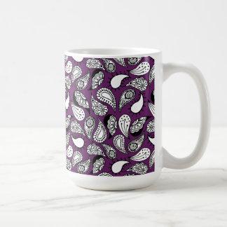 Dark Purple Paisley Coffee Mug