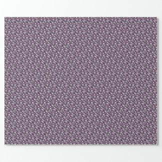 Dark Purple Paisley Wrapping Paper