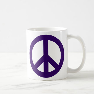 Dark Purple Peace Symbol Coffee Mug