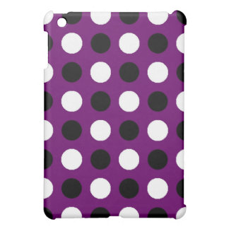 Dark Purple Polka Dot iPad Mini Cover