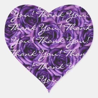 Dark Purple Roses Thank You Sticker