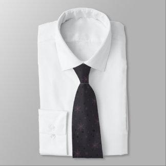 Dark Purple Snowflakes Tie