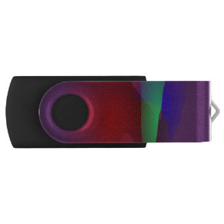 Dark Purple Space Swivel USB 3.0 Flash Drive