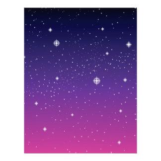 Dark Purple Starry Night Sky Custom Flyer