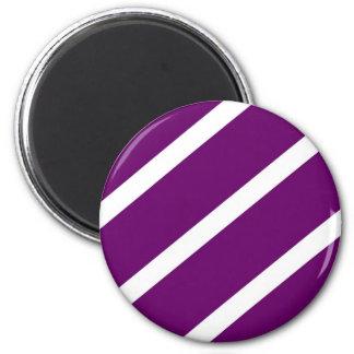 Dark Purple Stripes Magnet