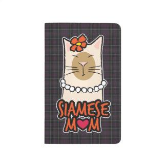 Dark Purple Tartan Siamese Cat Mum Journal