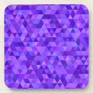 Dark purple triangle pattern beverage coasters