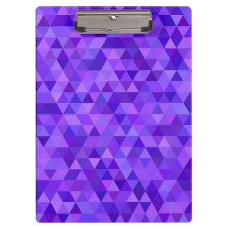 Dark purple triangle pattern clipboards