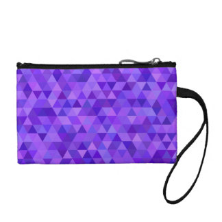 Dark purple triangle pattern coin wallets