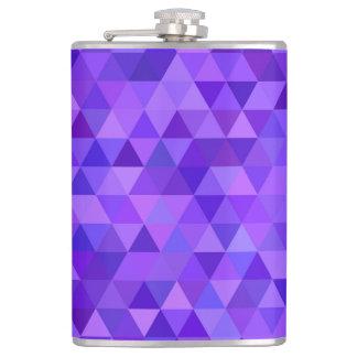 Dark purple triangle pattern flasks