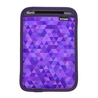Dark purple triangle pattern iPad mini sleeve