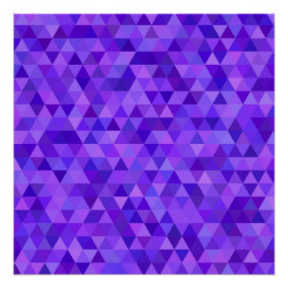 Dark purple triangle pattern perfect poster