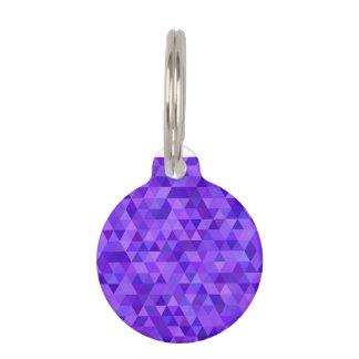 Dark purple triangle pattern pet tag
