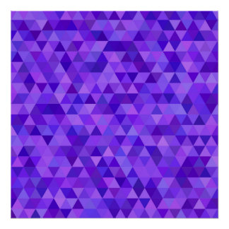 Dark purple triangle pattern poster