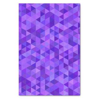 Dark purple triangle pattern tissue paper