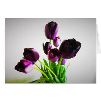 Dark Purple Tulips Card