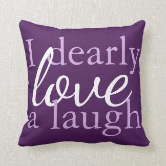 Dark Purple White | Pillow Jane Austen Book Quotes