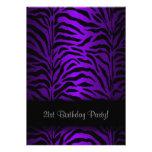 Dark Purple Zebra Womans 21st Birthday Party