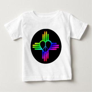 Dark Rainbow Zia Peace Baby T-Shirt