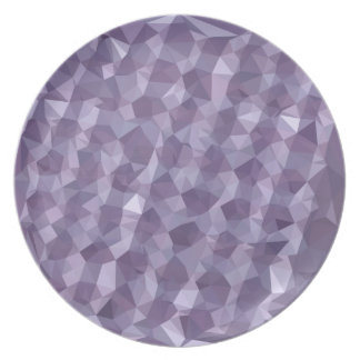 Dark Raspberry Abstract Low Polygon Background Party Plate