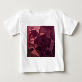 Dark Raspberry Red Abstract Low Polygon Background Baby T-Shirt