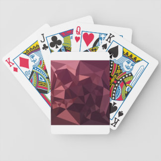 Dark Raspberry Red Abstract Low Polygon Background Bicycle Playing Cards