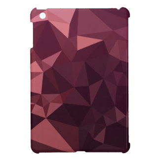 Dark Raspberry Red Abstract Low Polygon Background iPad Mini Cases