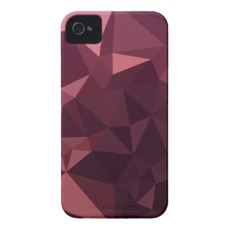 Dark Raspberry Red Abstract Low Polygon Background iPhone 4 Case-Mate Cases