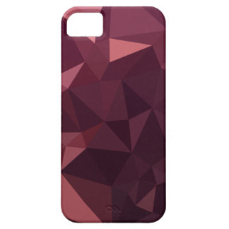 Dark Raspberry Red Abstract Low Polygon Background iPhone 5 Cases