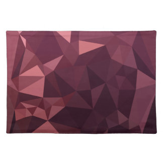Dark Raspberry Red Abstract Low Polygon Background Placemat