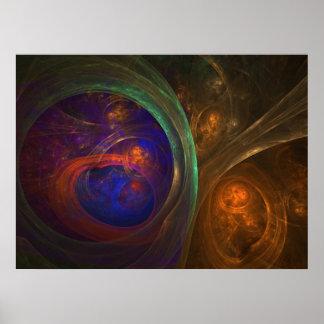 Dark Recesses - Abstract Art Print/Poster Poster