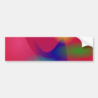 Dark Red Abstract Art Bumper Stickers