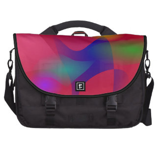 Dark Red Abstract Art Computer Bag
