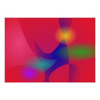 Dark Red Abstract Art Custom Invites