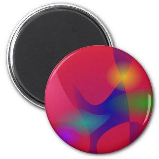 Dark Red Abstract Art Refrigerator Magnets