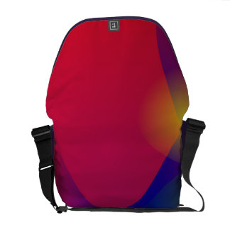 Dark Red Abstract Art Courier Bags