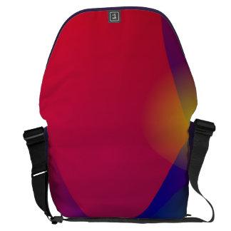 Dark Red Abstract Art Messenger Bag