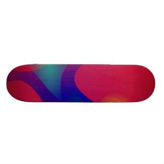 Dark Red Abstract Art Skate Boards