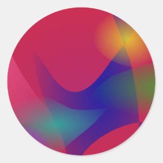 Dark Red Abstract Art Sticker